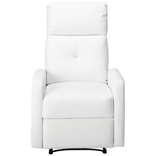 Great Deal Furniture Teyana White Leather Recliner Club Chair
