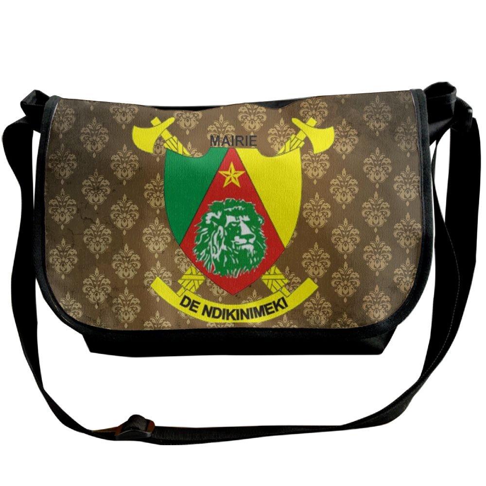 Lov6eoorheeb Unisex Coat Of Arms Of Cameroon Wide Diagonal Shoulder Bag Adjustable Shoulder Tote Bag Single Shoulder Backpack For Work,School,Daily