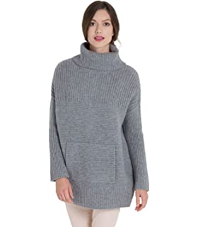 e0db0461c15ee Woolovers Womens Linen and Cotton Pointelle Detail Slub Knit Sweater ...