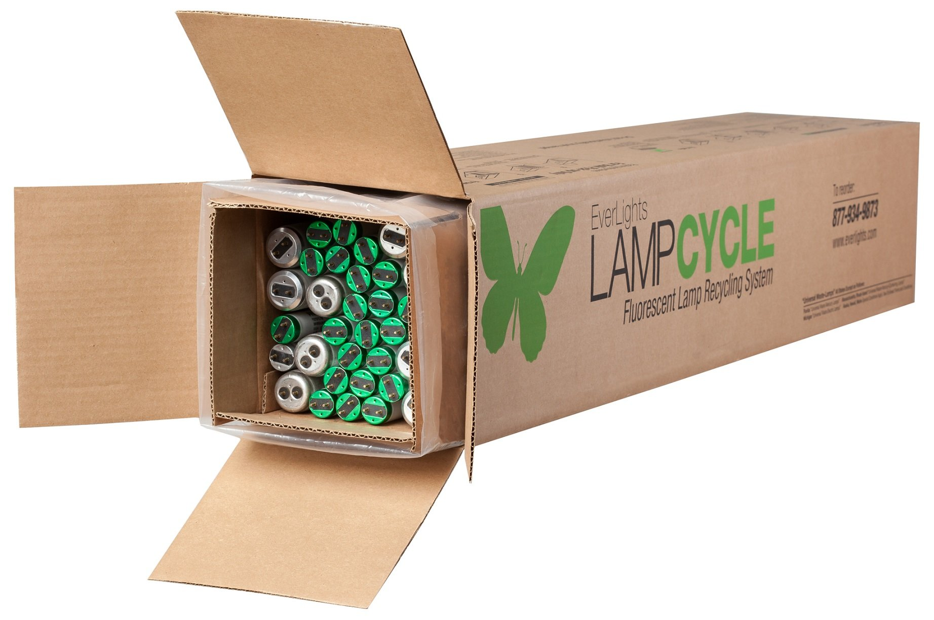 EverLights R4T860 LampCycle 4-Foot Linear Fluorescent Tube Recycling Kit, Medium