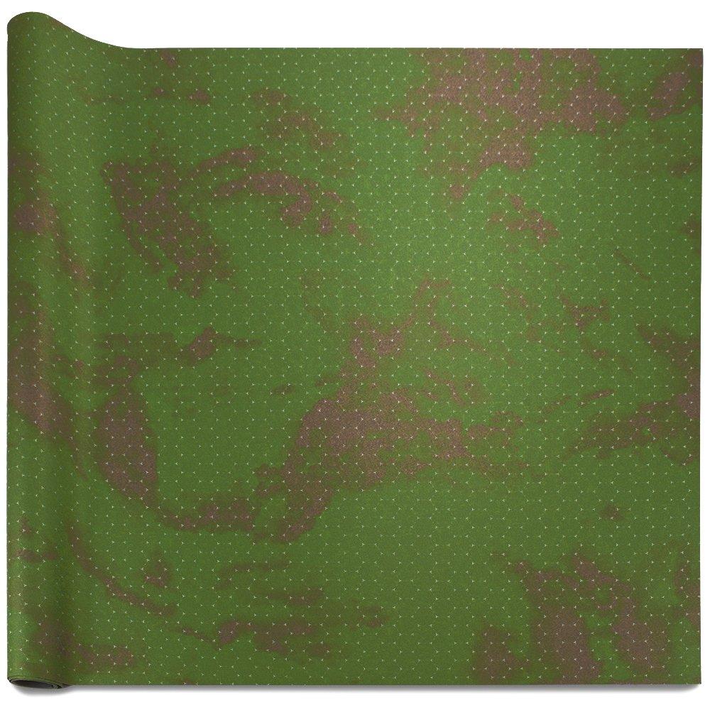 Stratagem 6' x 4' Open Field Grass Terrain Neoprene Tabletop Battlemat 1.25'' Hex Grid Carrying Case