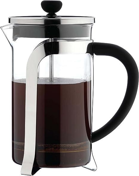 Café Ole Cafetera de cristal de 3 tazas, cromado, 350 ml, vidrio, cromado, 3 Cup (350ml): Amazon.es: Hogar