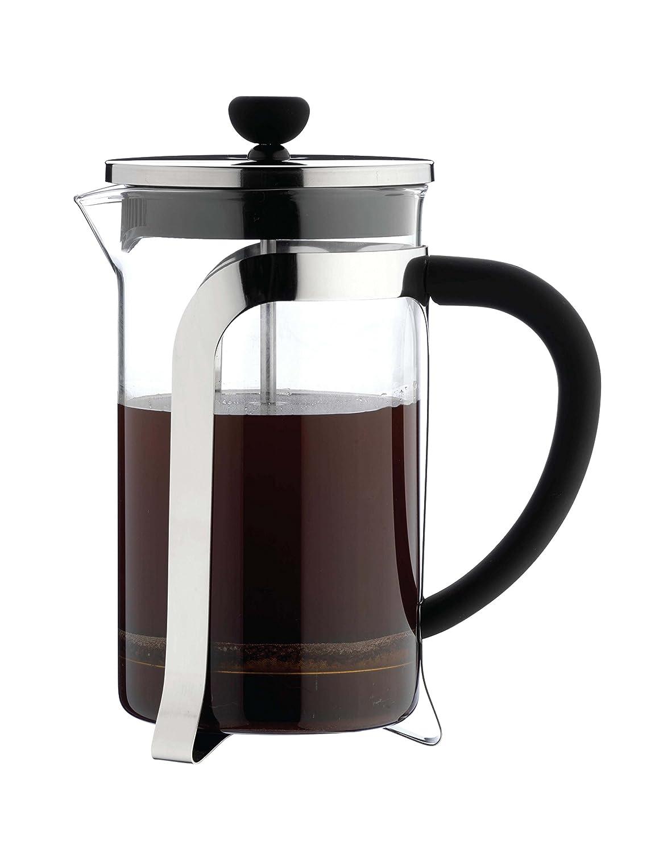 Café Ole 3-Cup Mode Glass Cafetiere Fresh Coffee Maker, Chrome, 350 ml Grunwerg KM-03C