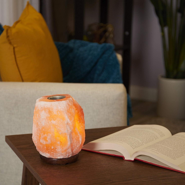 Salacia Himalayan Pyramid-Shaped Salt Lamp with Dimmer Pink