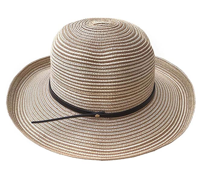 e998d2b5 Womens SPF Soft Cotton Packable Summer Straw Sun Hat Wide Brim Floppy  Foldable Sun Hat 55