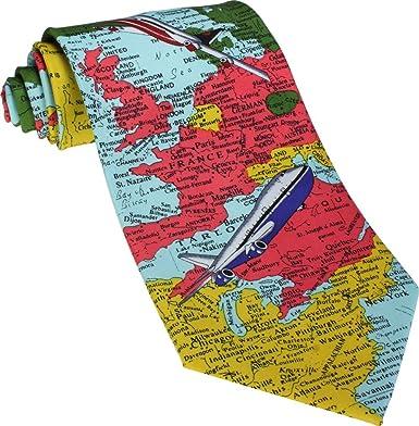 World Map Tie.World Maps Novelty Tie Amazon Co Uk Clothing