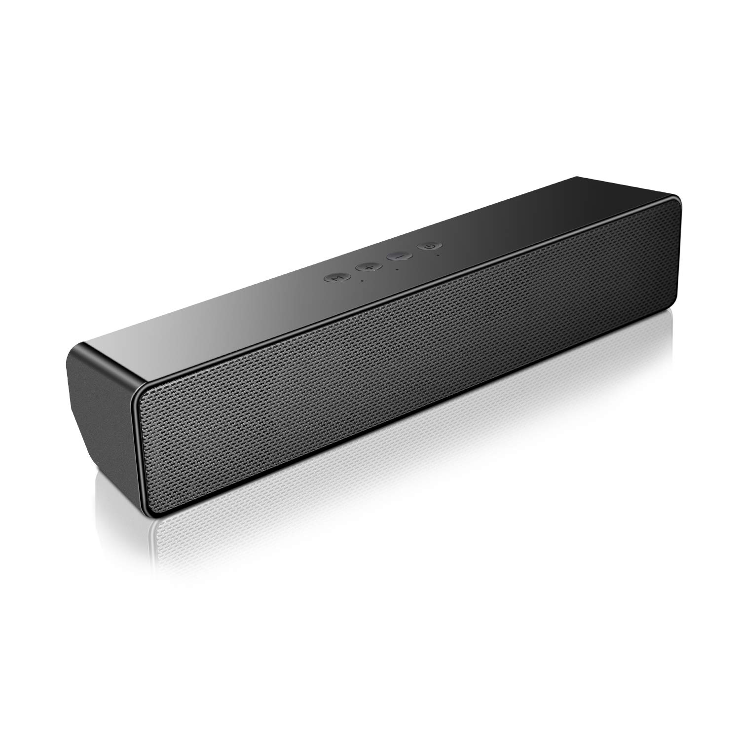 SAKOBS Computer Speakers, Wireless Computer PC Speakers, Stereo USB Powered Mini Sound Bar Speaker for PC Tablets Desktop Cellphone Laptop with Dual Speakers,18H Playtime& Microphone