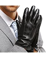 Harrms Best Touchscreen Nappa Genuine Leather Gloves for men's Texting Driving Cashmere Lining
