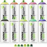 Montana Chalk Spray 10 Colors W/Cap Set