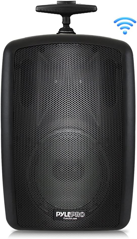 """Wireless Portable PA Speaker System - 360W Bluetooth Compatible Battery Powered Rechargeable Outdoor DJ Sound Speaker Microphone Set with MP3 USB SD FM Radio RCA 1/4"""" Mic in Wheels - Pyle PPHP8MBA"""