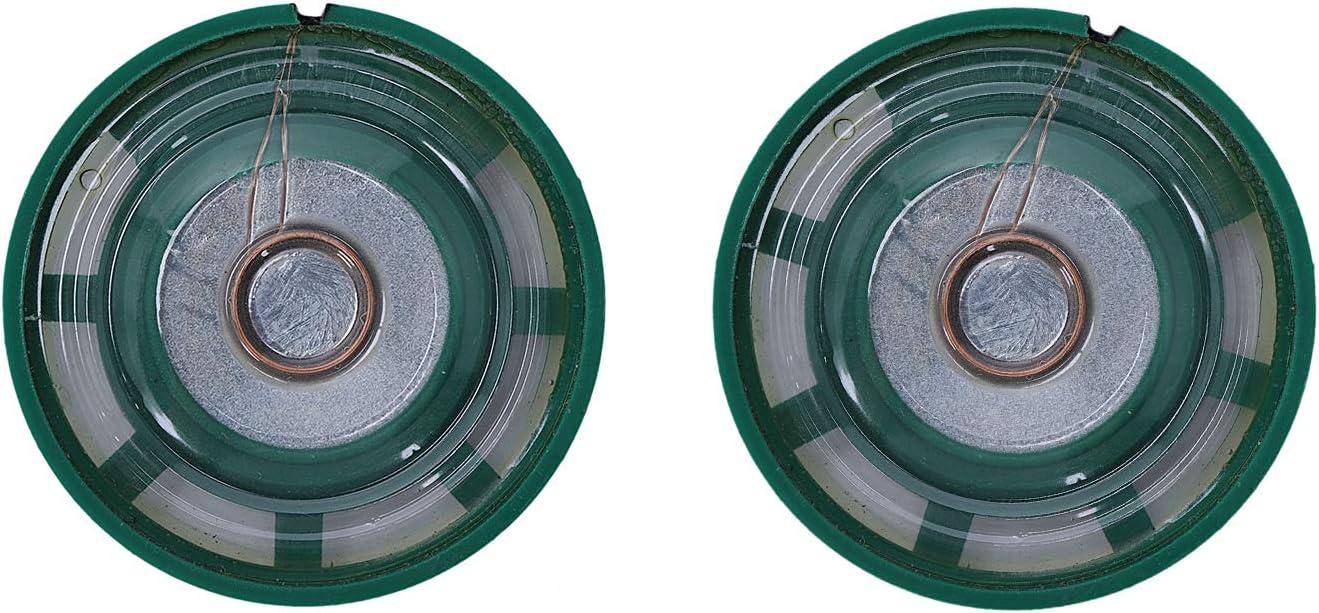 RETYLY 2 Pcs 1//4W 0.25W 8Ohm 27mm round external magnet speaker speaker,Sound amplifier,Speaker accessories