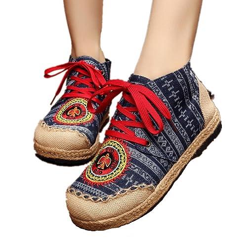 xichengshidai - Mocasines de Lona para mujer multicolor multicolor: Amazon.es: Zapatos y complementos