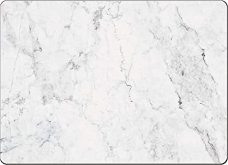 Amazon Com 4 Cala Home Premium Hardboard Placemats Table Mats White Marble Home Kitchen