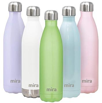 Amazon.com: MIRA Botella de agua aislada al vacío de acero ...