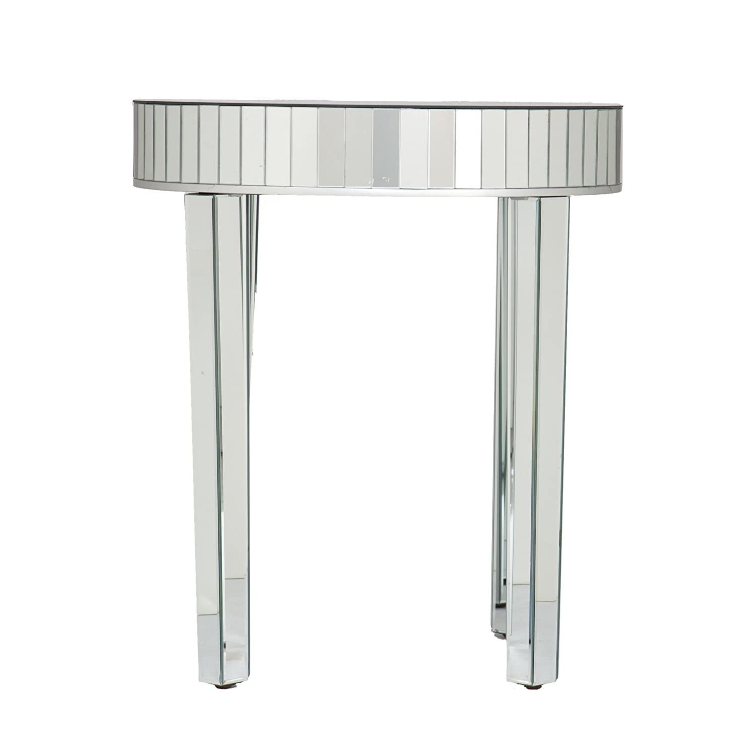 Southern Enterprises Round Mirrored Nesting Table 2pc Set AMZ3204
