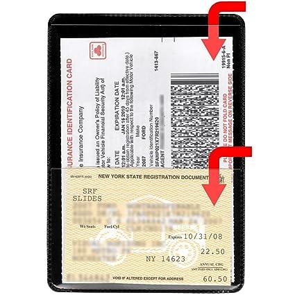 storesmart black back auto insurance id card holders 10 pack - Insurance Card Holder