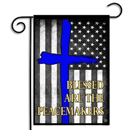 Amazon.com  Brotherhood Blessed are The Peace Keepers Thin Blue Line ... d265531b4cf