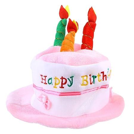 LUOEM niños cumpleaños Vela sombrero carta impresora partido ...