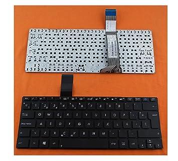 TECLADO PARA PORTATIL ASUS VivoBook S300 S300C S300CA S300K S300KI Serie 0KN0-P51LA12 0KNB0-3105LA00 MP-11N56LA-5281W Y SUS SERIES NEGRO EN ESPAÑOL CON Ñ ...