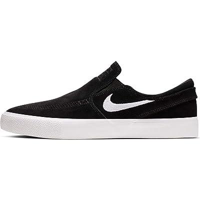 Nike SB Zoom Janoski Slip RM Canvas Skateboarding Shoes (10 M US, Black/White-White) | Skateboarding