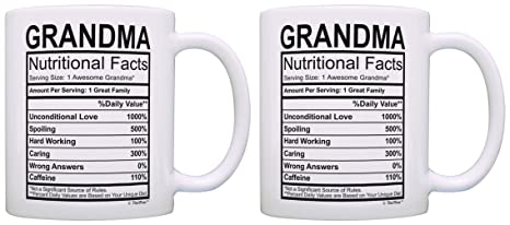 Amazon Birthday Gifts For Grandma Nutritional Facts Label Gift