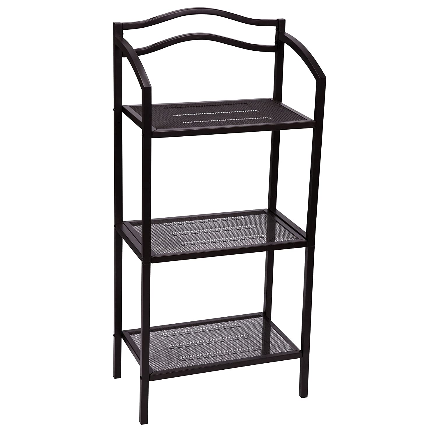 Amazon.com: Household Essentials Free-Standing 3-Tier Shelves ...