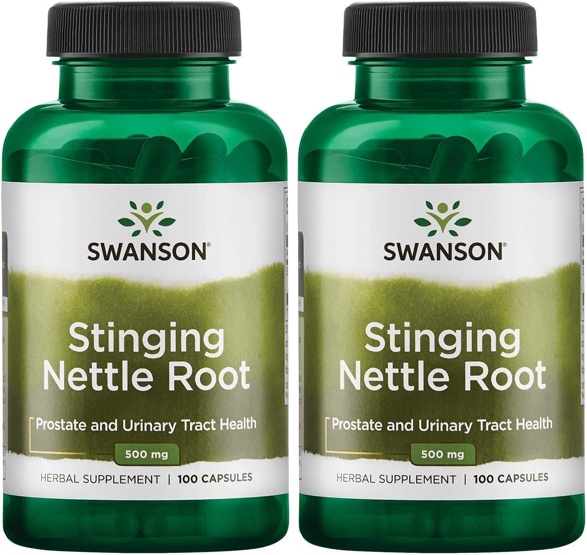 Swanson Stinging Nettle Root Urinary Tract Health Respiratory Health Prostate Support Men's Health Herbal Supplement Urtica dioica Root 500 mg 100 Capsules 2 Pack