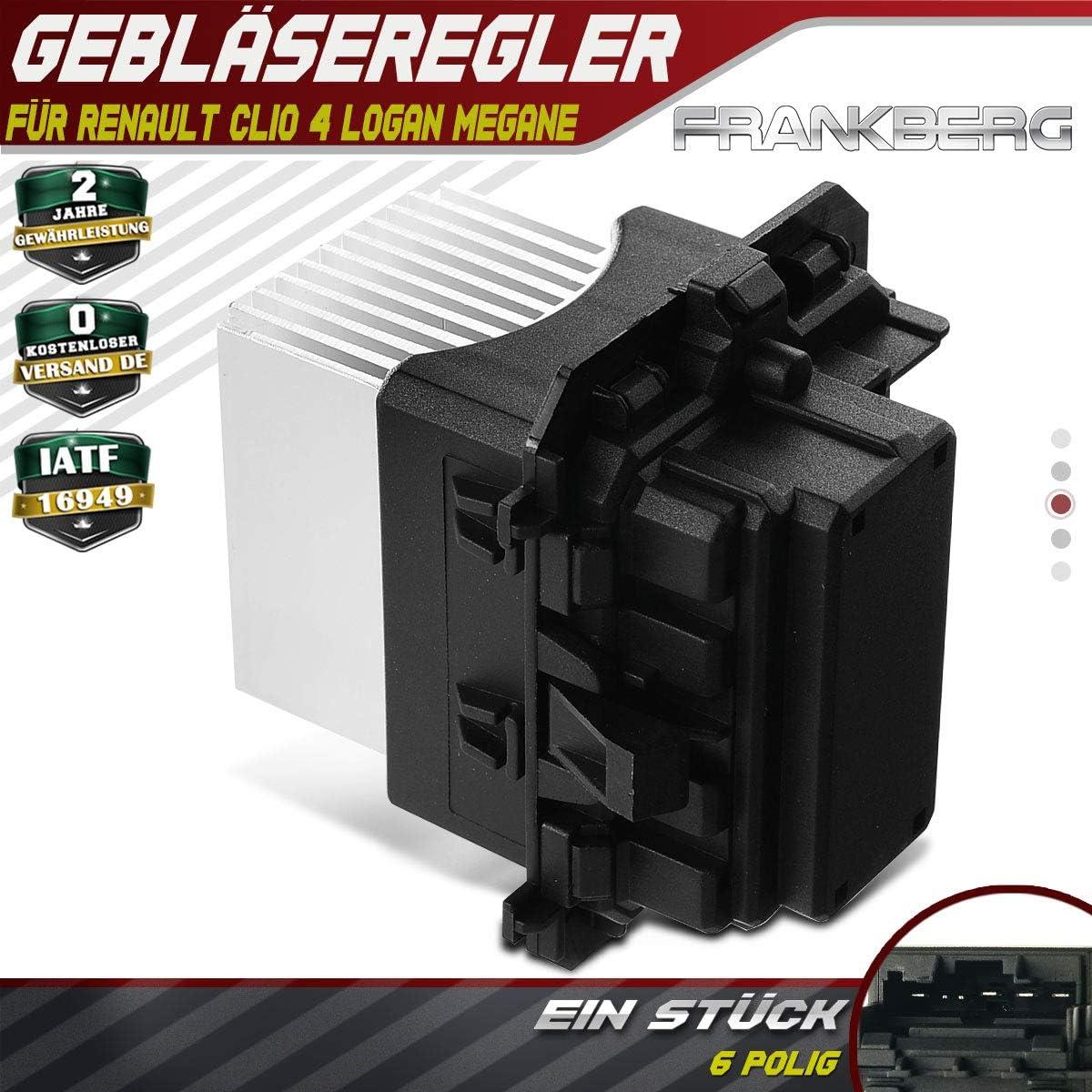 Regulador de ventilador Motor de ventilador de resistencia frontal para C4 DS4 308 Clio IV Logan Megane Trafic Twingo 2001-2020 509961