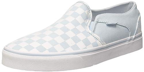 Vans Asher Classic Checkerboard, Zapatillas sin Cordones para Mujer: Amazon.es: Zapatos y complementos