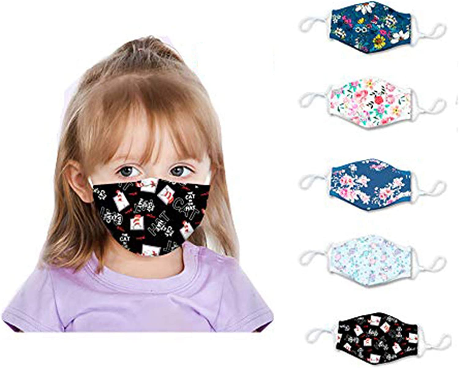 Replaceable Filters Haze Dust Face Health for Kids Xiaoa Cildren Face Bandanas Cotton with Fifters Washable Reusable Face