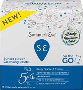 Summer's Eve Sunset Oasis Cleansing Cloth, 16 count