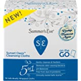 Summer's Eve Cleansing Cloths | Sunset Oasis | Individually Wrapped | 16 Count