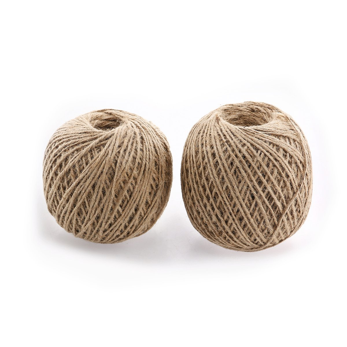Tinksky Natural Jute Twine String Cord 190M 2MM Pack of 2