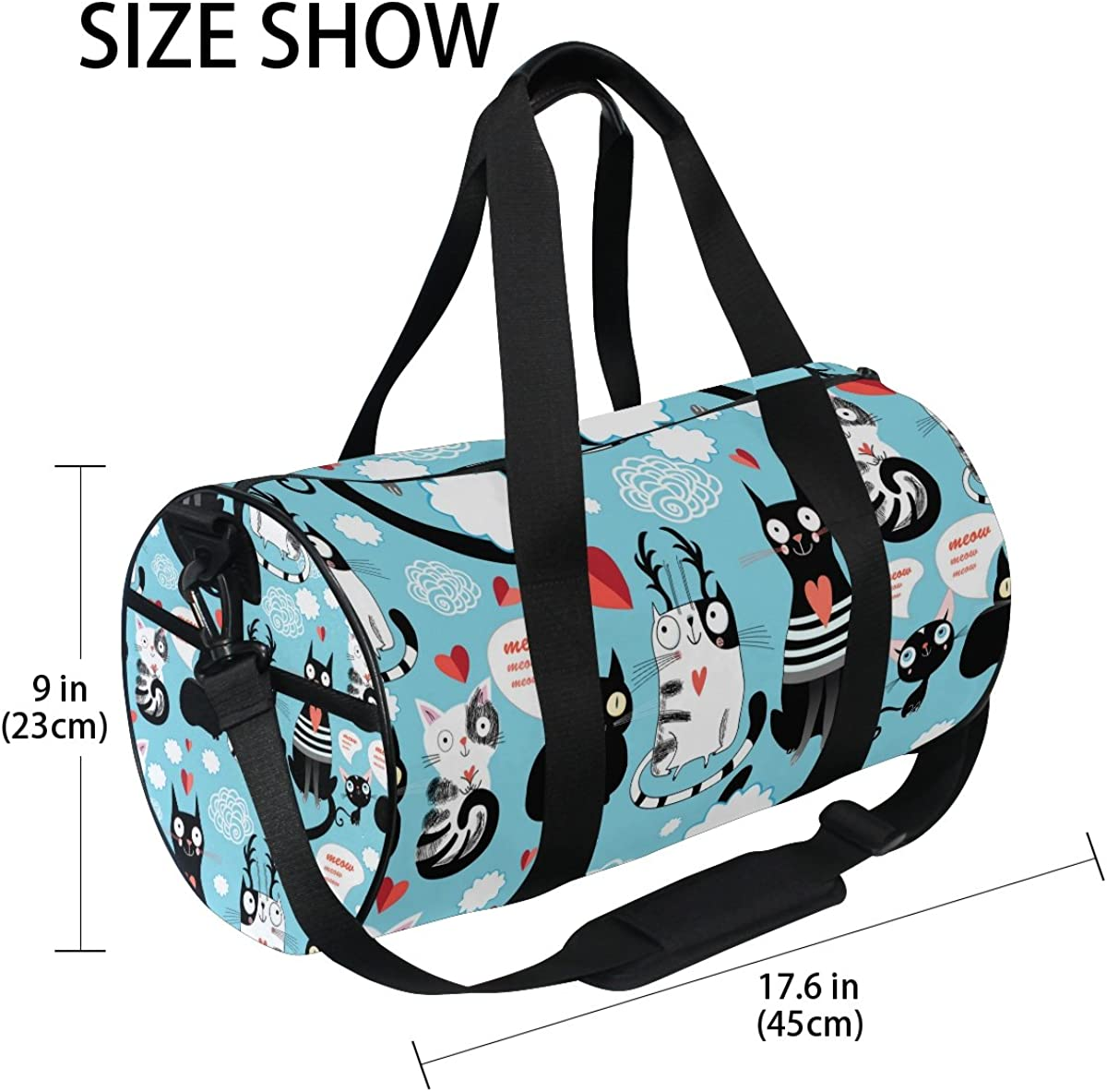 Evolutions Blue Dog Cat Paw Travel Duffel Bag Sports Gym Bag For Men /& Women