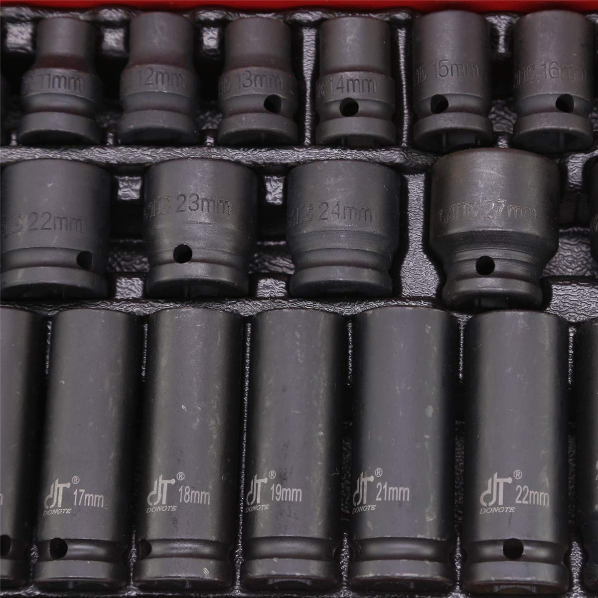 MutiWare Douilles /à choc 1//2 Profondeur Jeu doutils pour garage atelier 10-32 mm