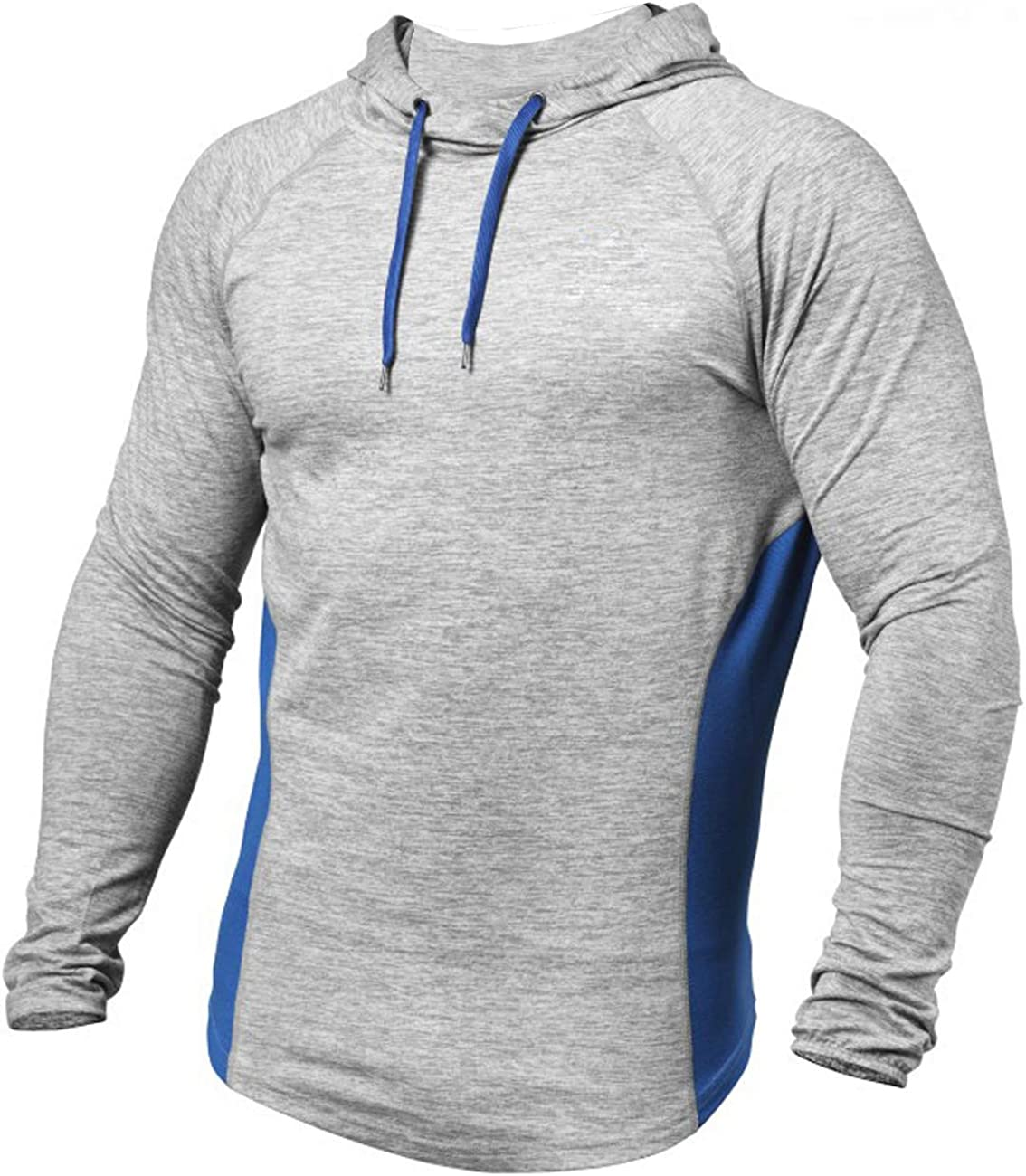 PAIZH Mens Workout Hoodies Dry Fit Outdoor Lightweight Pullover Hooded Tops