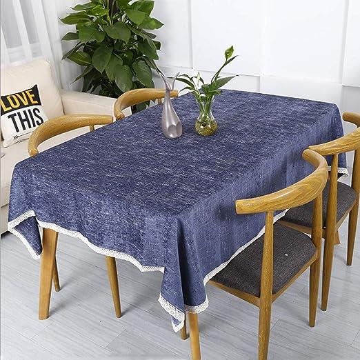 GQAI Mantel Impermeable Ropa de Mesa Chenilla Mantel Mesa, Azul ...