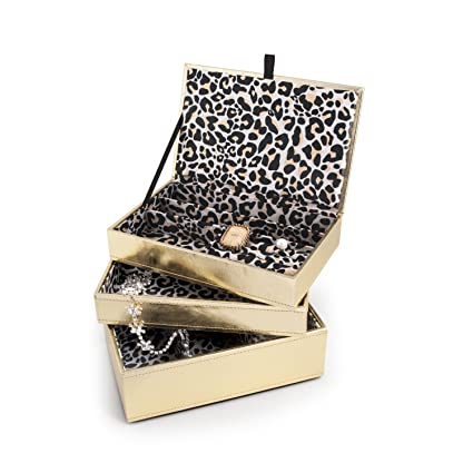 Amazon.com: Caja de joyería oro Ruch oro Rush de apilamiento ...