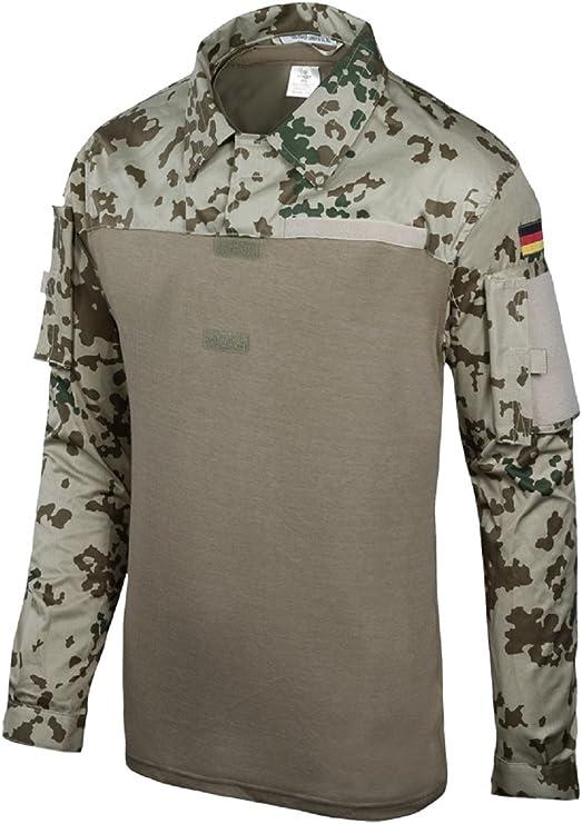 Camisa de combate Leo Köhler - Color: tres colores de camuflaje - Tamaño: XL: Amazon.es: Deportes y aire libre