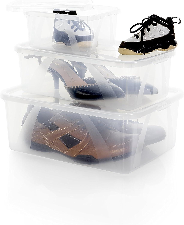 Transparente Rotho 1016500096WS Arco 2X Box 10 l Soporte con Tapa