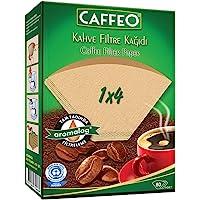 Caffeo 1X4/80 Kahve Filtresi Kağıdı(Paket İçi 80 Filtre), Siyah