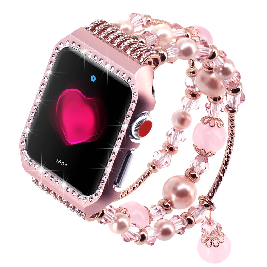 apple watch band rose gold glitter i 42mm iphone series 3