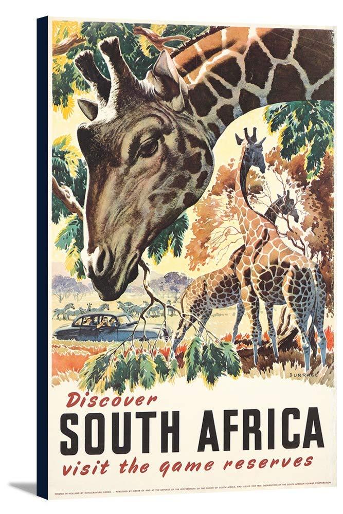 South Africa Vintageポスター(アーティスト: Burrage )オランダC。1930 15 1/4 x 24 Gallery Canvas LANT-3P-SC-73931-16x24 B01DZ1YHHW  15 1/4 x 24 Gallery Canvas
