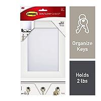 Command Mirror Organizer, Quartz, 1-Organizer with Key Hooks, 8-Medium Strips (HOM24MQ-ES)