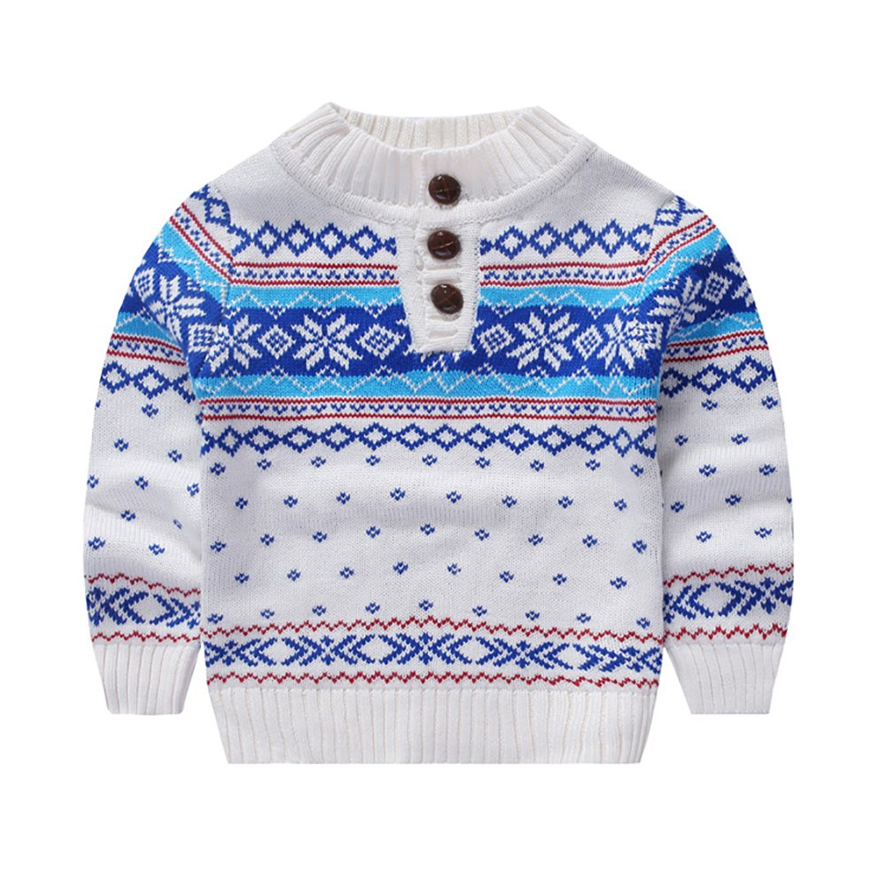 MOMOLAND Toddler Kids Boys Sweater Snowflake
