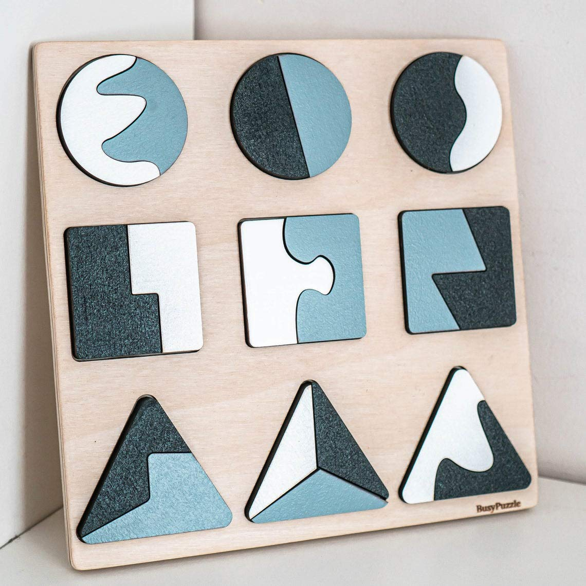 Organic Wooden Shape Education Game Christmas Gift Montessori Toys Kids Toys Pretend Toys Toddlers Toy Rainbow Shapes Puzzle