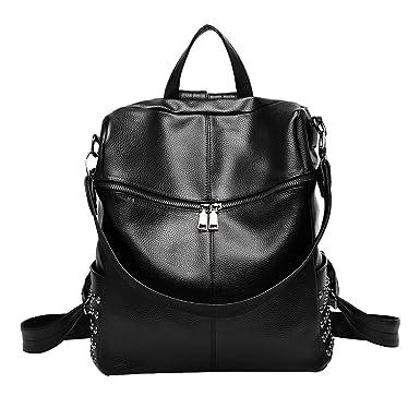 Damen Umhängetaschen Lässig Rucksack Studenten Fashion Bag,Black-OneSize ADEFG