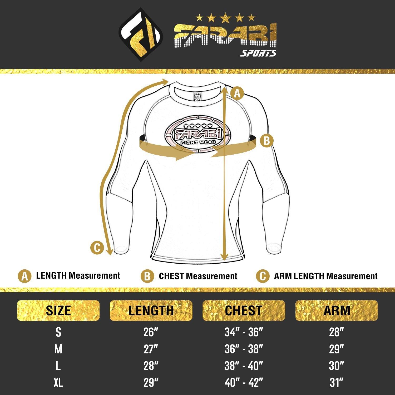 MMA rash guard compression top gym training body armour BJJ base layer LARGE