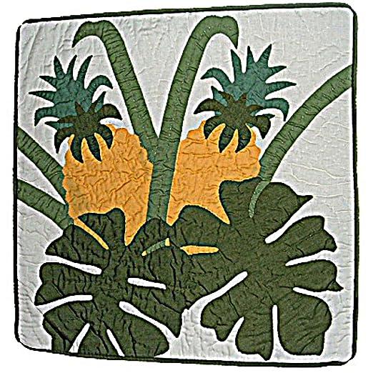 Piña hawaiano Monstera acolchado funda de almohada, 16 ...