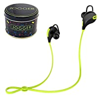 jogger QY7 Bluetooth 4.1 Stereo Sports Headphones with Extra Bass Hands-Free Calling- (Parrot Green)